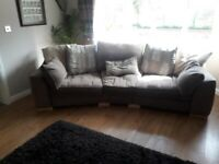 Sofas and chair and footstool