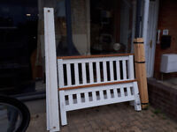 OLD CREAMERY TYPE PINE DOUBLE BED SHAKER STYLE IN YEOVIL