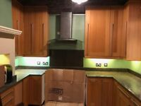 Good quality second hand kitchen with oak doors and granite worktops. Buyer collects.