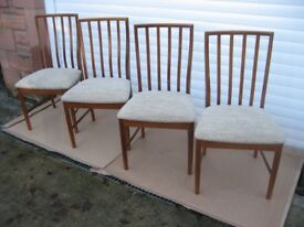 McINTOSH CHAIRS TABLE TEAK DINING CHAIRS MCINTOSH FURNITURE DINING ROOM CHAIRS GPLAN TEAK FURNITURE