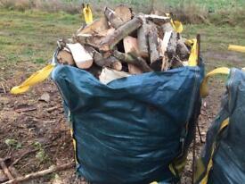 Seasoned hardwood logs woodburner