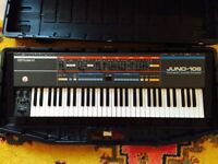 Roland Juno 106 synthesiser w/ original case