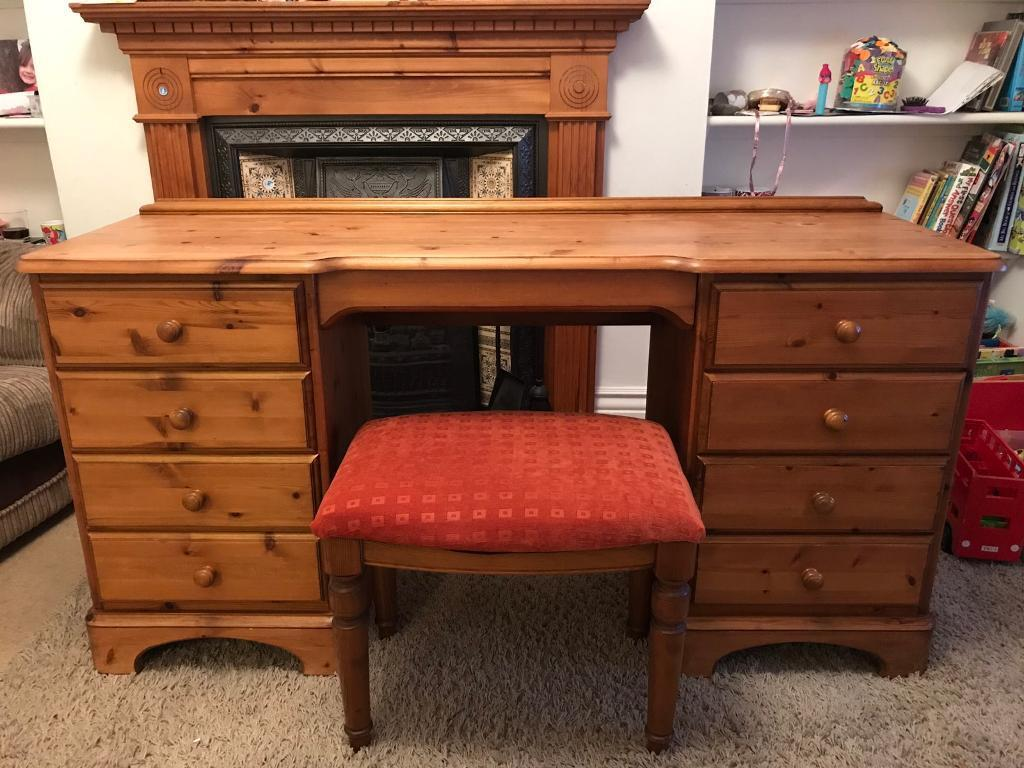 Stunning Ducal Solid Pine Dressing Table with Stool
