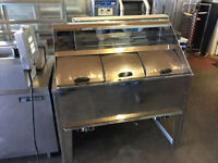 Gas Fish and Chips Range 2 pans Counter Frying