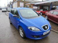2006 06 seat altea 1.6 reference, 73,000 miles, full history, 12 months mot, 30 + cars in stock.