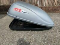 Mont blanc RBX 3600 roof box 360 litre roofbox camping Halfords exodus