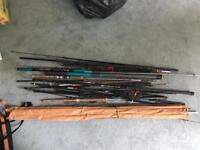 Job lot fishing rods