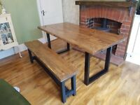 New Handmade Industrial Reclaimed Dining Table and Bench 180cm x 88cm available every size