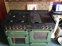 Rangemaster 110 green with hood