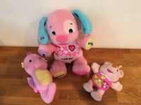 Fisher price Singing interactive puppy, singing Alfie and seahorse light and songs