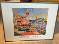 Art Print Picture in Frame, Andre Derain - Seaside Harbour Lighthouse scene