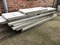 Concrete gravel boards and posts