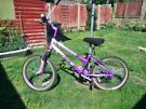 "** GIRLS SILVER FOX - DREAM - SPECIAL EDITION BICYCLE IN PINK & PURPLE WITH 20"" WHEELS **"