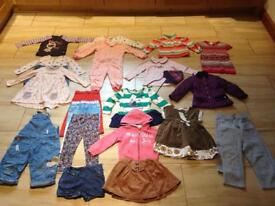 Bundle girl clothes size 2-3 years