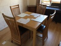 4-6 seater dining table + chairs