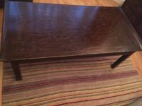 Brown Coffee Table- side draws