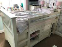 Wooden mid sleeper bed