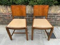 Pair of vintage chairs art deco style