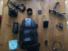 Nikon 3100 SLR camera bundle (£900+ kit)