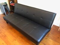 Home Patsy 2 Seater Clic Clac Sofa Bed - Black by HOME by Argos