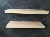 Ikea beech floating shelf