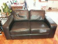 2 seater leather sofa free to first person to collect