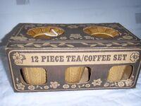 TAMS Staffordshire 12 piece tea /coffee set