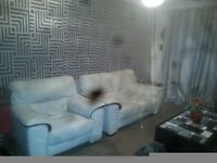 Leather 2 seater sofa and 1 seater chair