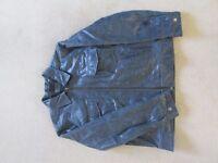 Marks & Spencers BHV blue leather jacket