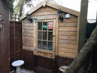 Garden Cabin/Office/Storage 1 inch thick cladding on outside and half inch inside insulated