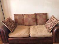 sofas- 2* 2/3 seater sofas and 1 single sofa