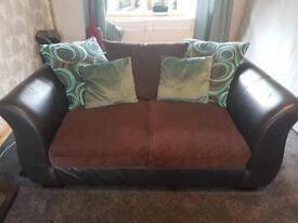 DFS 2 & 3 seater sofa with storage footstool
