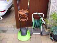 hose and lawn mower