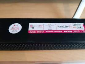 Lg 2.1ch sound bar with subwoofer