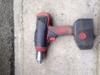 Snap on drill with one battery