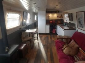 60ft by 10ft Widebeam Narrowboat Liveaboard Houseboat London