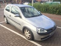 CORSA 1.2 ELEGANCE 03 REG IN SILVER WITH MOT MAY 2017