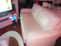 cream leather sofa bed it is a double very good condishion no mark on the sofa £300 o.n.o.