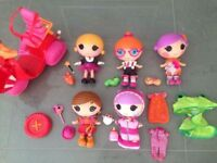 Large LaLaLoopsy Bundle of Littles and Scooter   All in Perfect Condition