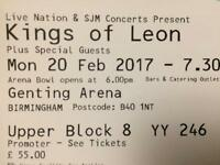 Two kings od Leon tickets birmingham 20.02
