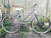 """Raleigh Caprice bicycle - 3-speed shopper, light purple 20"""" frame"""