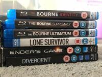 Blu-rays £2 each
