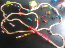 Brio compatible wooden train set