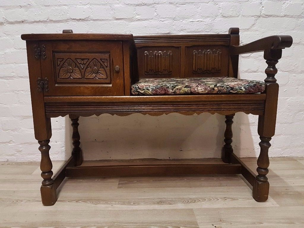 Old Charm Telephone Seat (DELIVERY AVAILABLE FOR THIS ITEM OF FURNITURE)