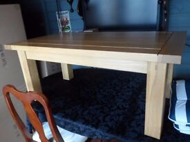 quality solid wood coffee table as new cost £229 no marks or scratches.