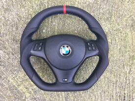 BMW M3 E81 E82 E87 E90 E91 E92 E93 INDIVIDUAL EXTRA THICK CUSTOM MADE STEERING WHEEL