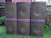 6 x Tannoy V12 PA Speakers 400W - Can Split