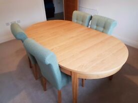 Schreiber Oak Dining Table & 4 Chairs