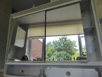 Retro double mirror cabinet for bathroom - unusual