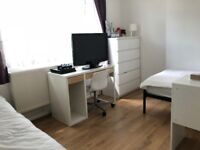 Large and newly painted and new furnished double bedroom for a 2 sharers or a couple Intern 110 mbps